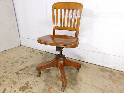 Peachy Antique Industrial Office Rolling Desk Clerk Chair Tilt Caraccident5 Cool Chair Designs And Ideas Caraccident5Info