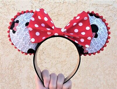 Handmade Minnie Mickey Mouse Ears headband for Disney Parks with sequins