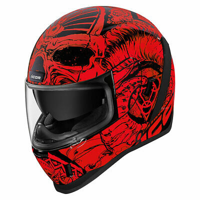 CASCO INTEGRALE MOTO ICON AIRFORM CONFLUX RED HELMET TUTTE LE TAGLIE