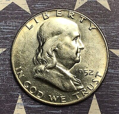 1952-D Franklin Silver Half Dollar Collector Coin for your Collection.