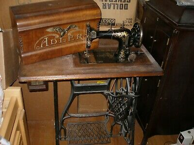 Adler Treadle Sewing Machine and Cabinet Stand