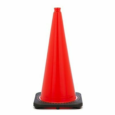 Orange Traffic Safety Cones with Black Base