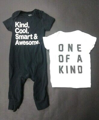 Carters Baby Boy Romper One Piece Outfit Size 6 M Months TShirt Short Sleeve Lot