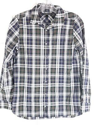 6d48f0f9a J. CREW womens sz 4 plaid button down long sleeved Shrunken Boy in Forest  shirt