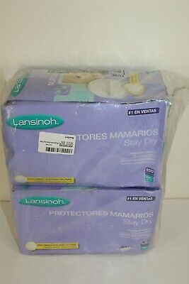 Lansinoh Stay Dry Disposable Nursing Pads 2 Boxes @ 100 Count Each