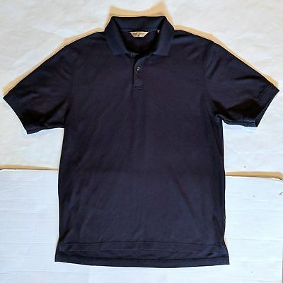 NWOT Men's ROUNDTREE & YORKE Gold Label Tall Navy Short Sleeve Polo Shirt