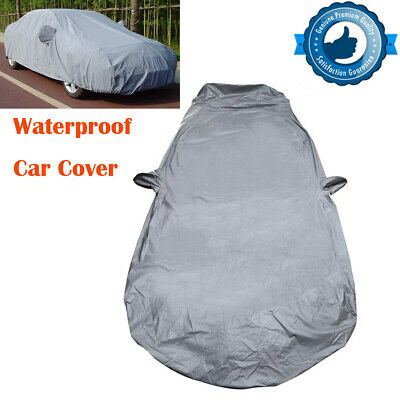2 Layer Heavy Duty Waterproof Car Cover Scratch Proof M Size Cotton Lining Rain