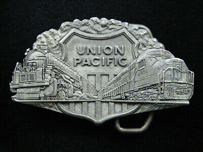Ri05135 Vintage 1975 **Union Pacific** Railroad Pewter Belt Buckle