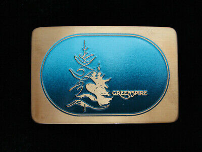 QE07101 *NOS* VINTAGE 1970s **GREENSPIRE** SOLID BRASS BELT BUCKLE