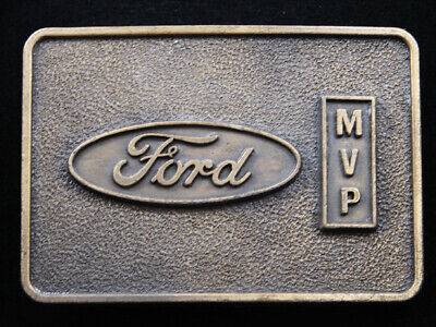 RI05120 VINTAGE 1970s **FORD MVP** FORD MOTOR COMPANY AWARD BELT BUCKLE