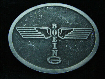 QL07165 VINTAGE 1970s **BOEING** AIRCRAFT COMPANY ADVERTISEMENT BELT BUCKLE