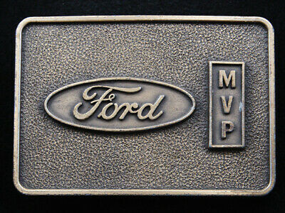 RI05121 VINTAGE 1970s **FORD MVP** FORD MOTOR COMPANY AWARD BELT BUCKLE