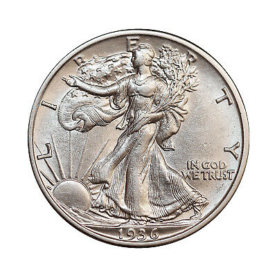 1936 S Walking Liberty Half Dollar - Gem BU / MS / UNC