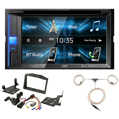 JVC Touchscreen DVD Radio, Scosche Polaris Dash Kit, Enrock Marine Antenna