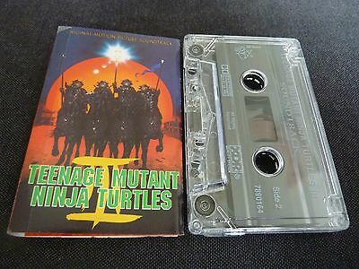 Teenage Mutant Ninja Turtles Ii Rare Soundtrack Cassette Tape!
