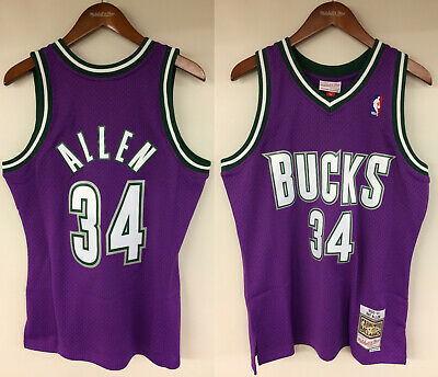 hot sale online 91845 1a489 RAY ALLEN MILWAUKEE Bucks Mitchell & Ness NBA 2000-2001 Authentic Jersey