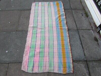 Old Traditional Hand Made Persian Oriental Wool Pink Blue Kilim Runner 159x76cm