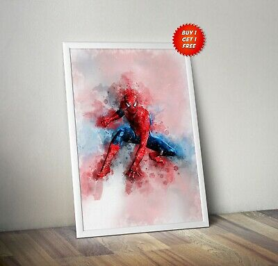 Spiderman,Poster, Print, Art, Avenger, Infinity War,Watercolour, Homecoming,Iron