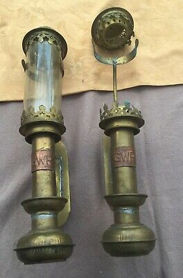 Vinage Brass Great Western Railway( GWR) Lamps Pair