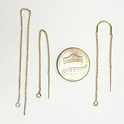 14K Gold Filled  U-Threader  Earring ,with cable chain