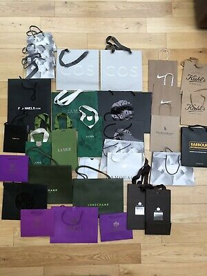 35 X Designer Shopping Paper Bags Liberty Tom Ford Molton Brown