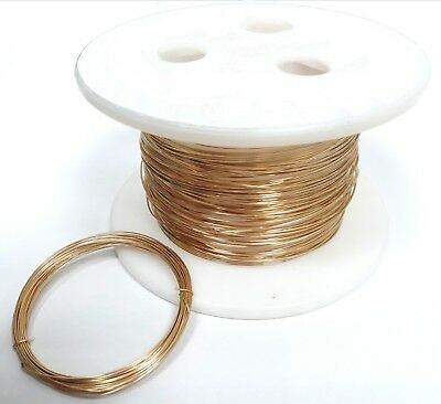 12K Gold Filled Round Wire, Soft, Gage 12