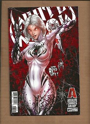 White Widow #1 Cover A & B Red Foil Variant Set Jamie Tyndall Absolute