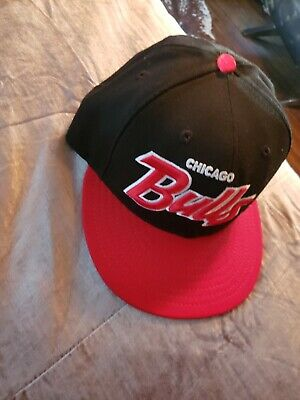 new styles 85ce2 cf02a Chicago Bulls Black Red White New Era 9Fifty Snapback Hat pre owned