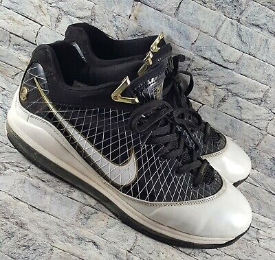 factory authentic fdc61 7878d Nike Air Max Lebron VII 7 Black White Gold 412230-011 Basketball Shoes Size  12