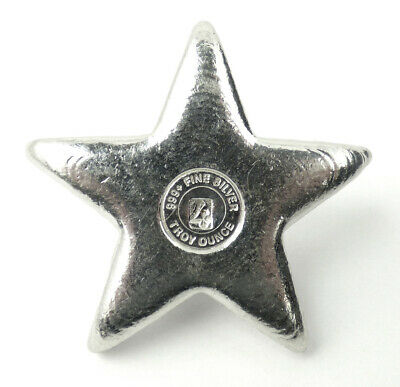 YPS Yeagers Poured Silver 3D Star 4 oz .999 Fine Silver Bar #98/999