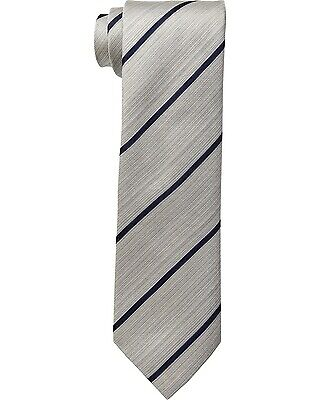 cc3315ba4c61 Kenneth Cole Reaction Linear Stripe Necktie Silk Grey Mens Tie Neckwear