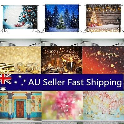 7x5ft/5x3ft Happy New Year Christmas Photography Backgrounds Xmas Studio Props