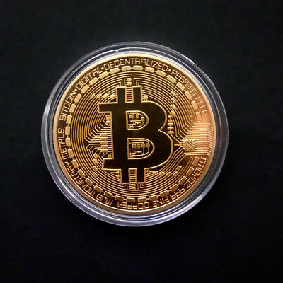1pcs Bitcoin Commemorative Round Collectors Coin Bit Coin is Gold Plated Coins