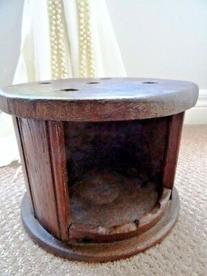 Victorian antique FOOT WARMER buggy STOVE Colonial TIN LINED carriage BIEDERMIER