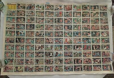 1989 Topps BIG Baseball Card Uncut Sheet Loaded with Rookie Stars Hall of Famers