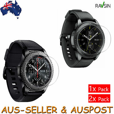 Samsung Galaxy Watch 42mm 46mm Tempered Glass Screen Protector Gear S3 9H 2x 1x