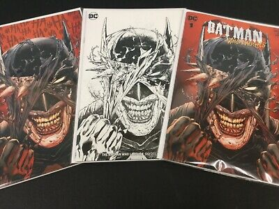 BATMAN WHO LAUGHS #1 Daniels Exclusive Variant Set Trade Virgin Sketch NM+