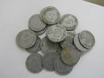 Lot of 25 Old Tunisia 1960 5 Millim Coins - Circulated