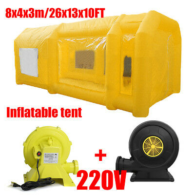 8x4x3m Gonflable géant voiture peinture Inflatable Tent Paint Spray Booth