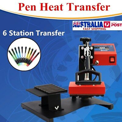 6 Pcs Digital Pen Heat Press Machine For Ball-point Transfer Printing