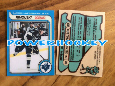 Custom ALEXIS LAFRENIERE ROOKIE 79-80 OPC Style High Quality card only 20made RC