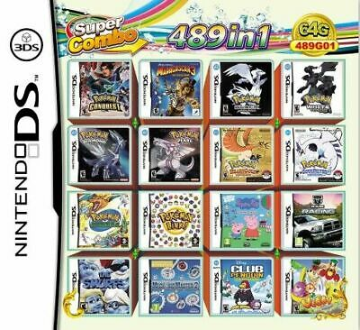 Video Game DS 3DS Cartridge Card Game Console 489 In 1 MULTI CART