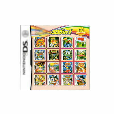 Video Game DS 3DS Cartridge Card Game Console 500 In 1 MULTI CART