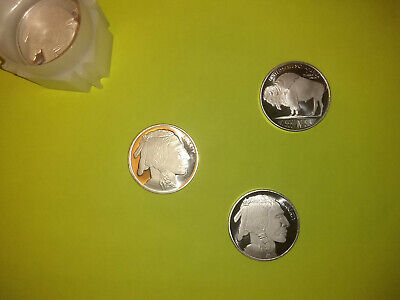 Lot of 3 Liberty Indian Head Buffalo/Bison USA 1 troy oz .999 Rounds