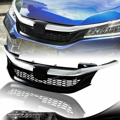 Sport Style Chrome Abs Front Hood Grille Grill For 2016 2017 Honda Accord Sedan