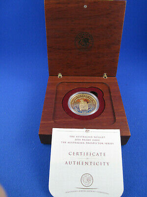 2001 $100 AUSTRALIAN NUGGET PROSPECTOR SERIES 1oz GOLD PROOF ISSUE COIN. NICE!!!