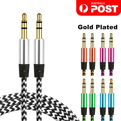 AUX Cable 3.5mm Stereo Audio Input Extension Male to Male Car Cord lead New