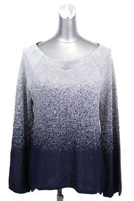 womens metallic silver blue ombre WHITE HOUSE BLACK MARKET evening party top L