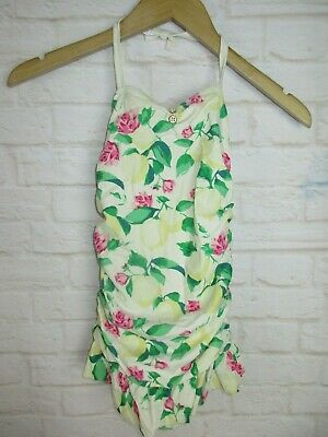 7cf470df94bbfe Janie and Jack Girls size 8 Floral Lemon Print One Piece Bathing Swim Suit