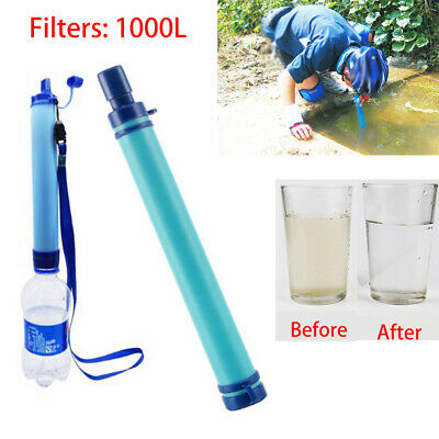 Camping Water Filters Four-stage Filtration Water Purifier Outdoor Camping Hiking Emergency Life Survival Portable Purifier Water Filter Straw Gear #a Easy To Use Sports & Entertainment
